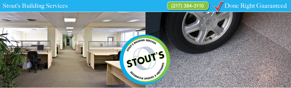 Stouts Building Services: Commercial Cleaning and Epoxy Flooring: 217-384-3110